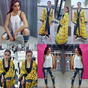 Actress Adunni Ade Dazzles In Gangnam Style Kimono and Ripped Jeans [Photos]